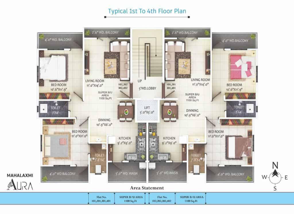 Mahalaxmi Aura Floor Plan