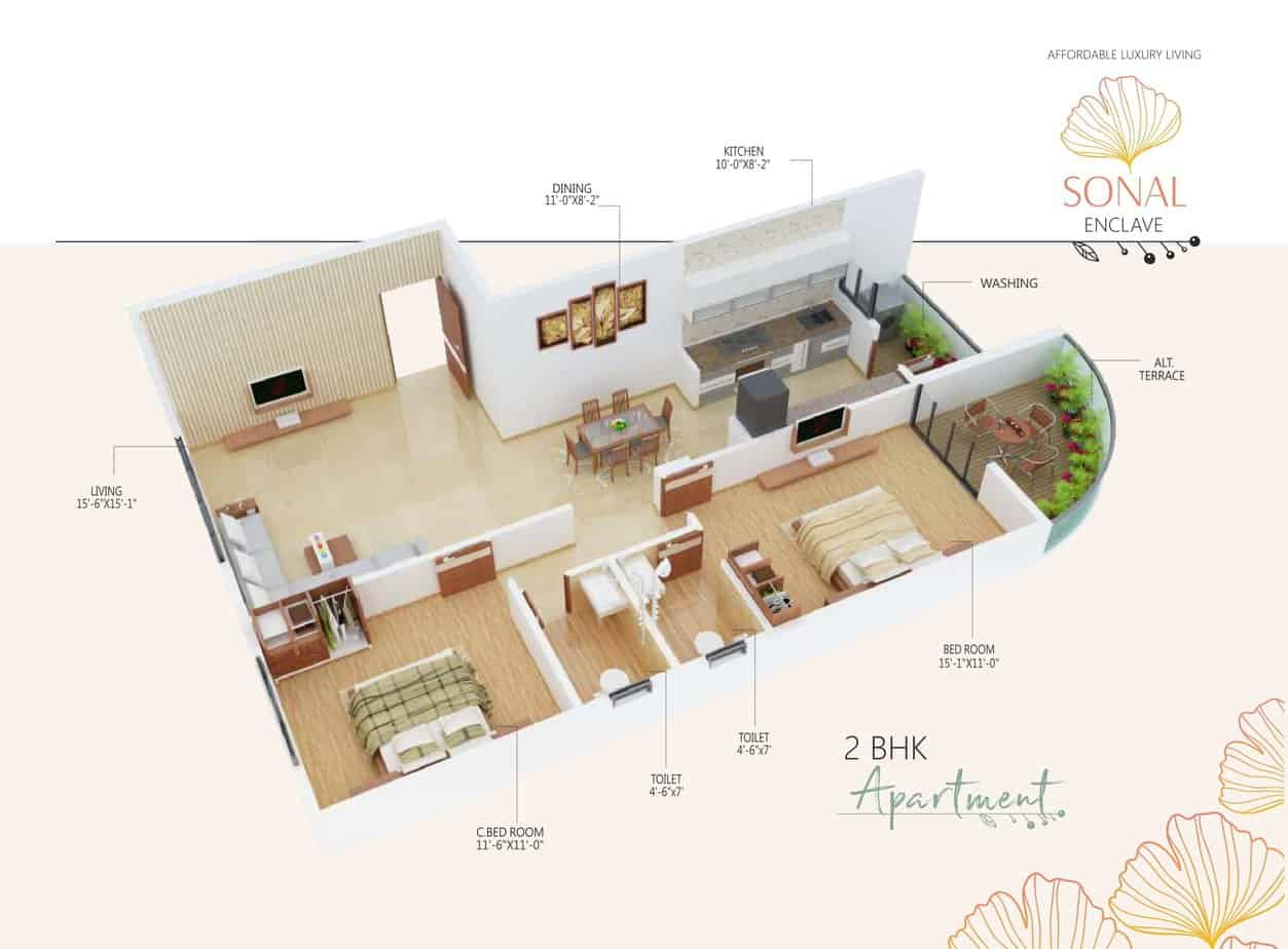 Sonal Enclave - Isometric View